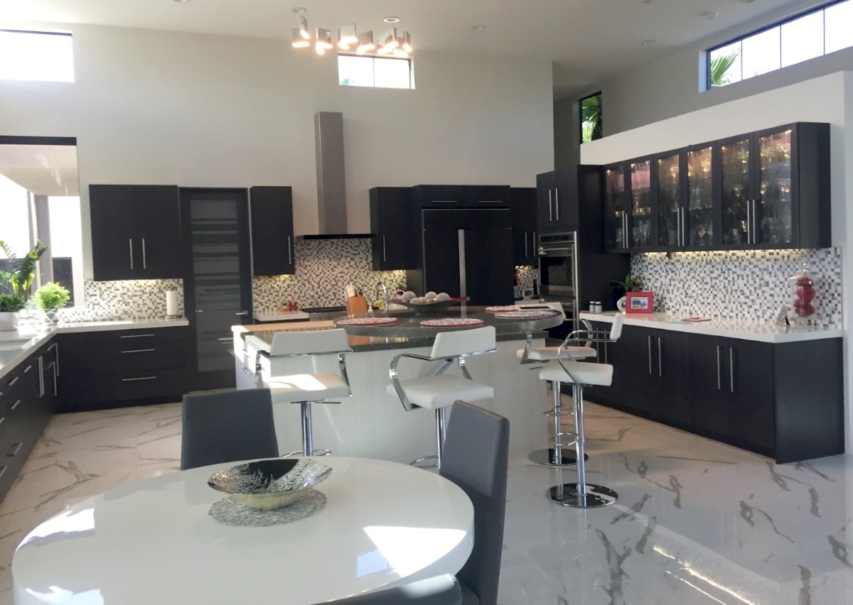 Spring 2020 Design Trend -kitchen with black cabinetry Cabinets of the Desert